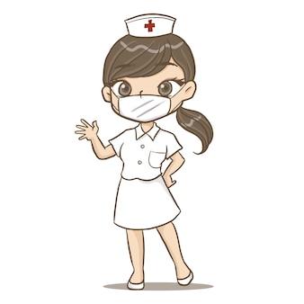 Krankenschwester süßer cartoon-charakter