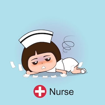 Krankenschwester zeichentrickfigur