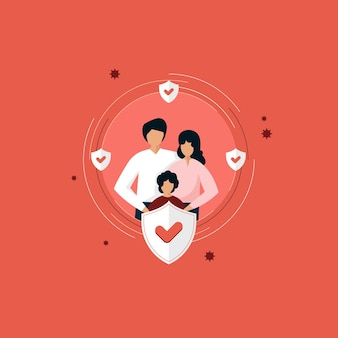 Krankenversicherung illustration