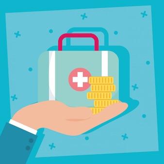 Krankenversicherung mit medizinischer ausrüstung