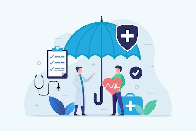Krankenversicherung mit regenschirmschutz