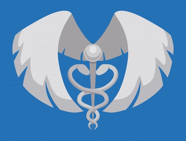 Krankenversicherungsdesign.