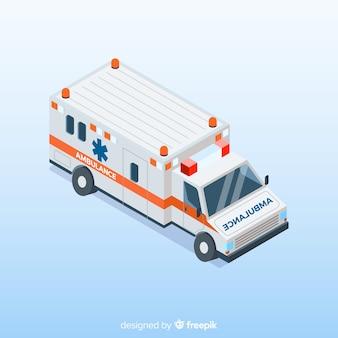 Krankenwagen in der isometrischen Art