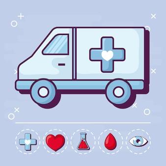 Krankenwagen und medizinisch