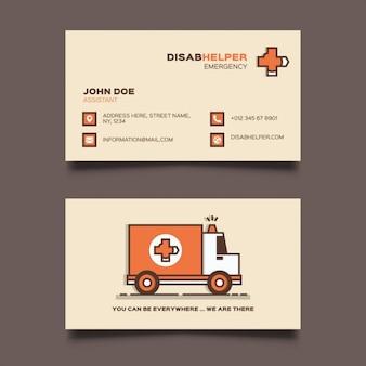 Krankenwagen visitenkarten vorlage