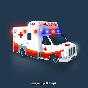 Krankenwagenkonzept in der flachen art