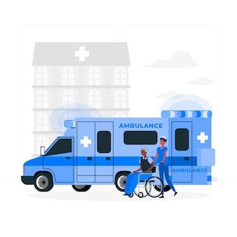 Krankenwagenkonzeptillustration