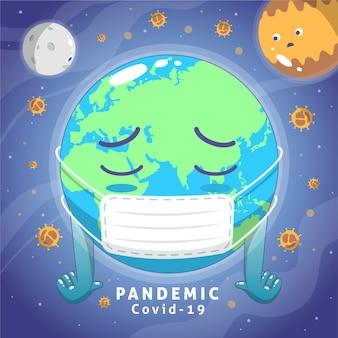 Kranker planet in der pandemiezeit
