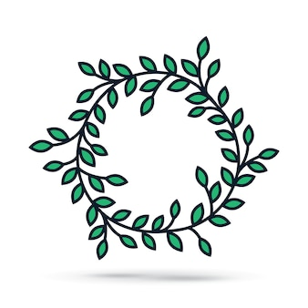Kranz einfache illustration symbol zeichen