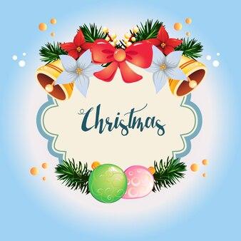 Kranz farbiges weihnachten mit glocke