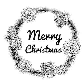 Kranz für frohen weihnachtstag