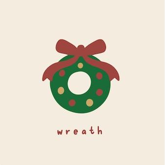 Kranz symbol social media post weihnachten vektor illustration
