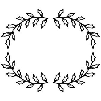 Kranzrahmen des neuen jahres aus zweigen. dekoration für weihnachten.