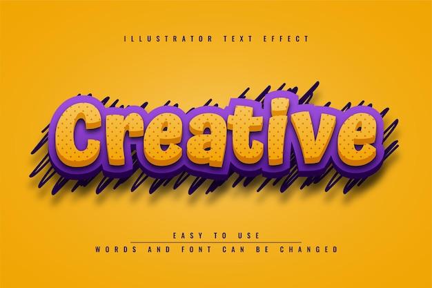 Kreativ - bearbeitbares gelbes texteffektdesign