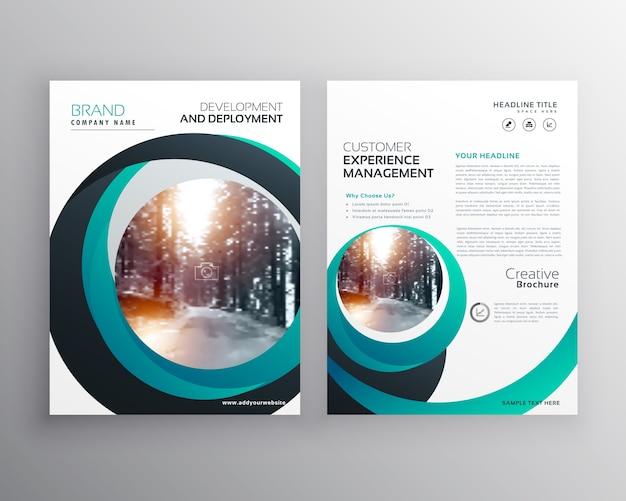Kreativ cicle form business flyer broschüre poster design-vorlage in größe a4