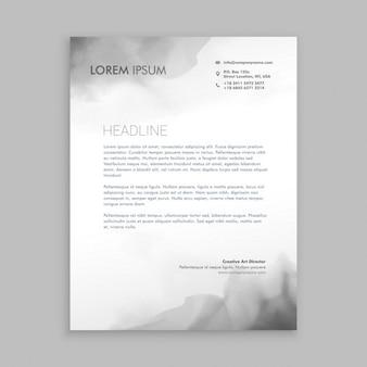 Kreativ fließende tinte briefpapier design