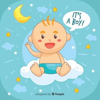Kreativ ist es eine junge baby-dusche-vorlage