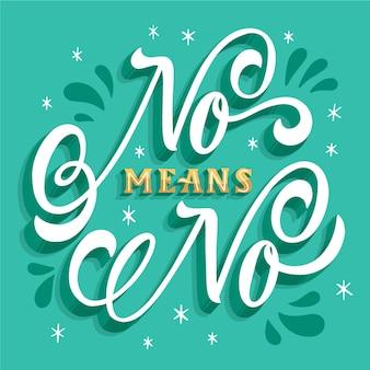 Kreativ nein bedeutet keine beschriftung