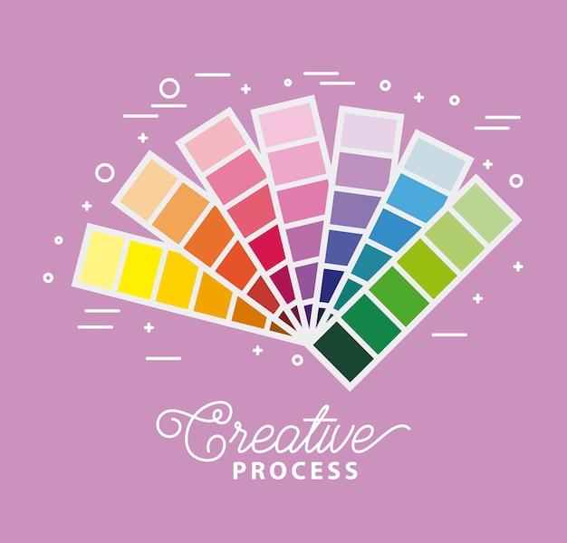 Kreativ-prozess-farbpalette zur anpassung an farben