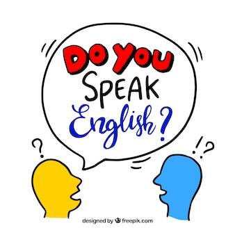 Kreativ sprechen sie englisch hintergrund