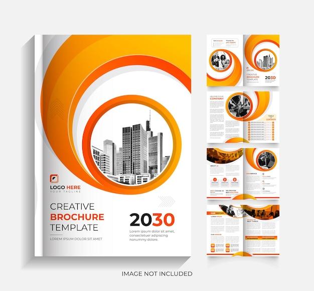 Kreative 8-seitige unternehmensbroschüre design