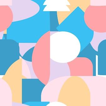 Kreative abstrakte formen nahtlose muster. moderne geometrische vektorillustration. zeitgenössischer geometriehintergrund
