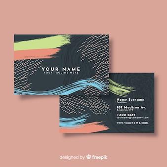 Kreative abstrakte handgemalte besuchskarte