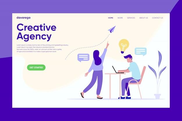 Kreative agentur landing page design