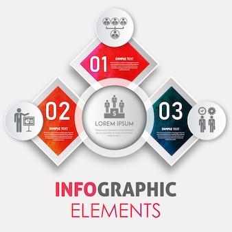 Kreative aquarell splatter infographik design