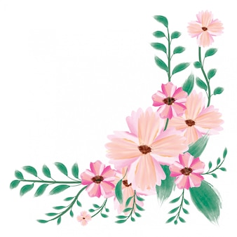 Kreative aquarellblume des besonderen anlasses der vektorblumenstraußkarte