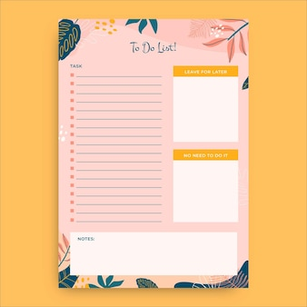 Kreative aufgaben-to-do-liste