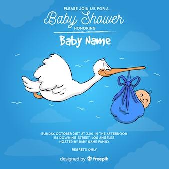 Kreative baby-dusche-vorlage für jungen