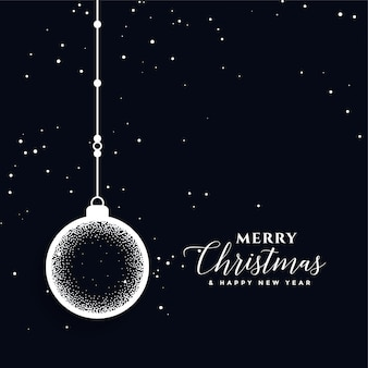 Kreative balldekorations-festivalkarte der frohen weihnachten