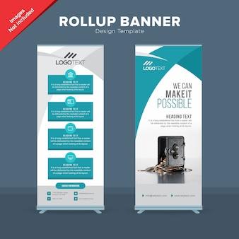 Kreative bank rollup banner vorlage