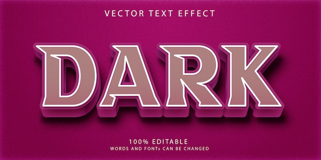 Kreative bearbeitbare texteffekt-stilvorlage