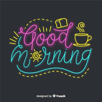 Kreative beschriftungsillustration des gutenmorgens