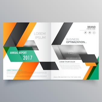 Kreative bifold broschüre design-vorlage mit geometrischen form