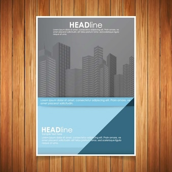 Kreative blau und grau business-template