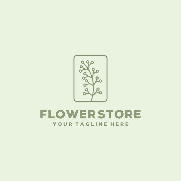 Kreative blumenladen-logo-designschablone