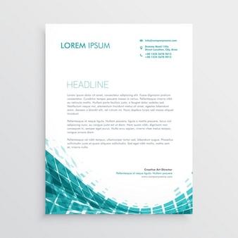 Kreative briefpapier-design-vorlage mit abstrakten blauen formen