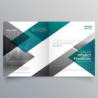 Kreative broschüre deckblatt deisgn vorlage mit geometrischen formen