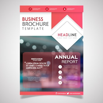 Kreative broschüre designs