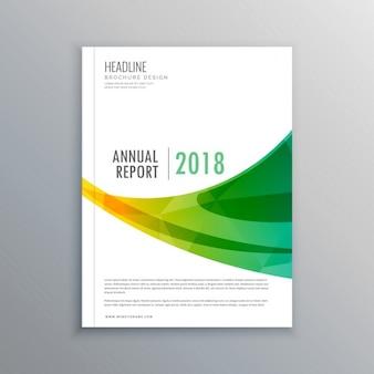 Kreative broschüre flyer template-design für ihre marke