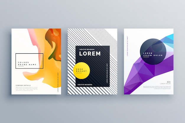 Kreative broschüre vorlage deckblatt poster design-set