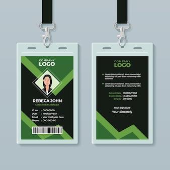 Kreative büro id kartenvorlage