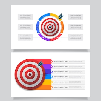 Kreative bunte ziele infografik