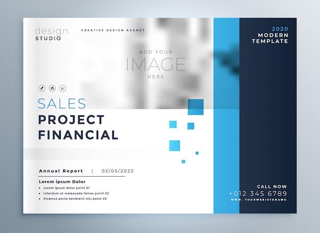 Kreative business-blaue broschüre cover-vorlage