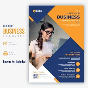 Kreative business flyer vorlage