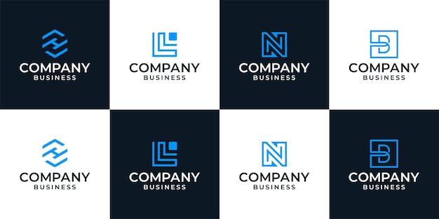 Kreative business-logo-sammlung, inspirationsvorlage für das anfängliche logo-design des unternehmens