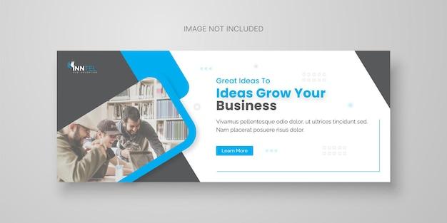 Kreative business-social-media-banner-vorlage mit facebook-cover-design premium-vektor